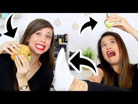 אתגר 7 השניות עם מרים ועם אבא שלי?!?? הצלחנו לאכול המבורגר ב7 שניות?! הכי מצחיק בעולם!