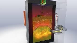 3D анимация плюс 2D анимация утилизатора органических отходов