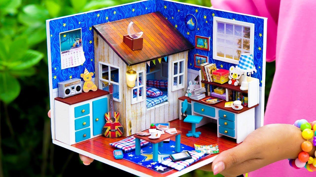 Diy Dollhouse Boy Room Youtube
