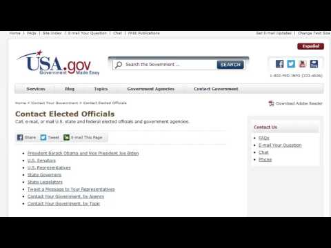 How to Contact USA Government