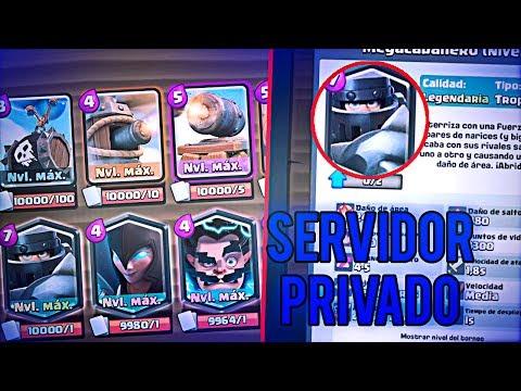 Servidor Privado Clash Royale Con MEGA CABALLERO, GEMAS Y TODAS LAS NUEVAS CARTAS!!(FUNCIONA)
