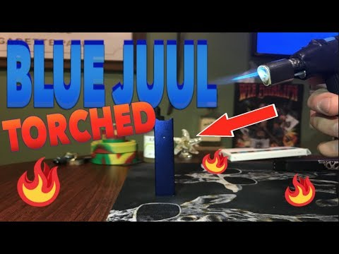 How to Torch a BLUE JUUL | Crazy Color Change!