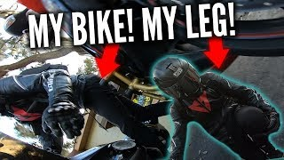 WRECKED MY LEG, CRUSHED BY MOTORCYCLE, REAL GATORS & BIKER vs BAD DRIVERS | RPSTV