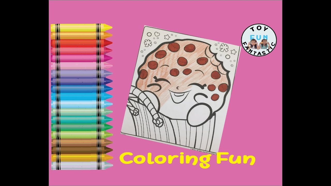 shopkins kooky cookie crayola art coloring drawing page color