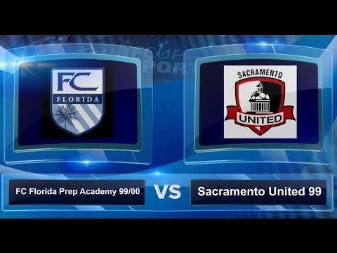 FC Florida Preparatory Academy 1999 vs Sacramento United 99 - Surf Cup 2016