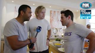 Rugby Kick and Chase: Bernard Foley and Kurtley Beale inside Wallabies camp