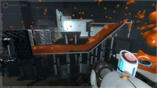 Portal 2 E3 walkthrough demo, Part 7: Propulsion Gel