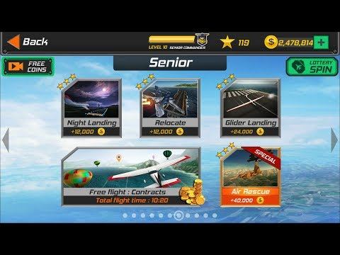 Flight Pilot Simulator 3D Android Game - Senior Missions