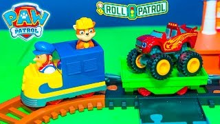 PAW PATROL TRAIN Nickelodeon Rubble Adventure Bay Train Set A paw Patrol New Toys Video