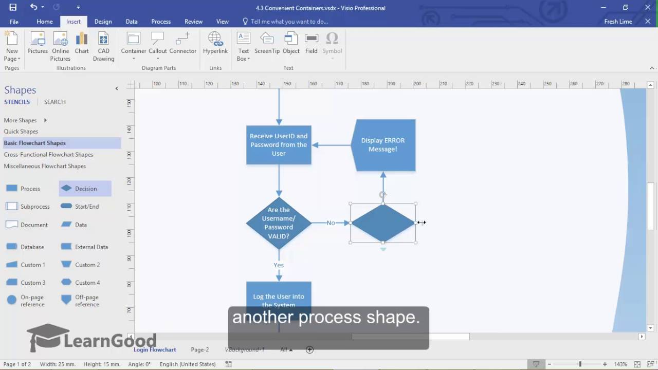 Microsoft Visio Tutorial - Convenient Containers - YouTube