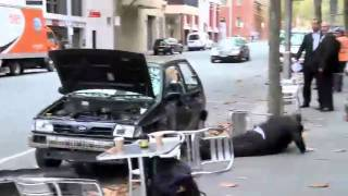 Very angry man Destroying his car completely