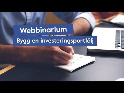 Så Bygger du en Investeringsportfölj [Webbinarium]