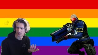 xQc Finds Out Soldier 76 Is Gay