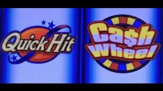Quick Hit CASH WHEEL ✦LIVE PLAY w Bonuses✦ in Las Vegas