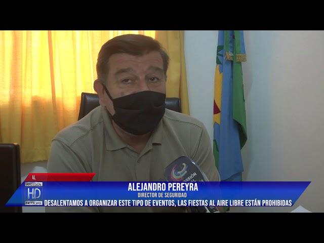 Alejandro Pereyra Fiestas clandestinas   Desalentamos a la población a organizar este tipo de evento