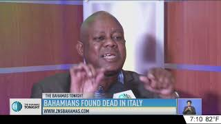 BAHAMIANS FOUND DEAD IN ITALY