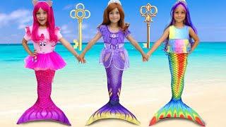 صوفيا وأميرات حورية البحر الصغار ، قصة مضحكة عن الهدايا السحرية