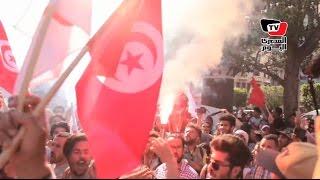 مظاهرة بقلب العاصمة التونسية ضد قانون المصالحة
