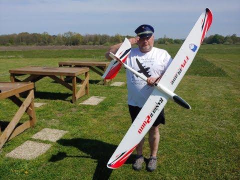 Ranger Pusher Glider 2000mm Volantex RC PNF Maiden flight