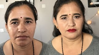 MAKEOVER ON MY MUM| Mother's Day Special Makeup | Beauty Nepal |