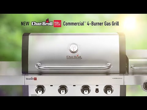 New Char-Broil TRU Infrared Commercial 4-Burner Gas Grill
