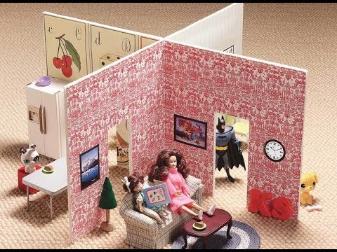 DIY Mini Doll House | 2 Minute Dollhouse | DIY Cardboard