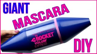 DIY Room Decor 2016! EASY & INEXPENSIVE! How To Make A Giant Mascara!