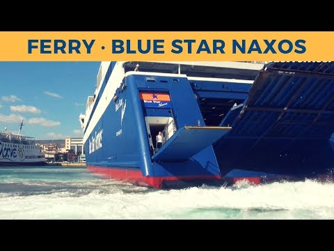 Arrival of ferry BLUE STAR NAXOS in Piraeus