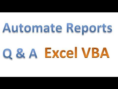 Automate Manual Filtering and Reporting - Eliminate Redundant Tasks with VBA 56 MINUTES