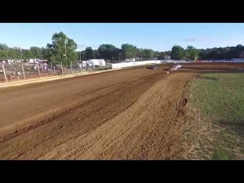 9/3/16 Lincoln Park Speedway Super Stock Hot Laps - Drone Footage