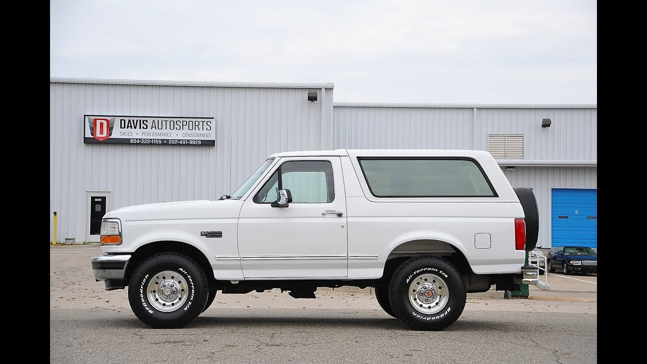 davis autosports 1994 ford bronco restored for sale like new youtube. Black Bedroom Furniture Sets. Home Design Ideas