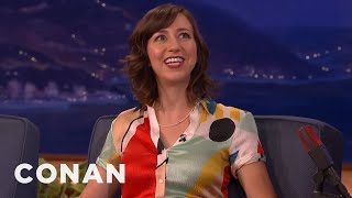 Kristen Schaal Loves Filming In The Porn Capital Of The World  - CONAN on TBS