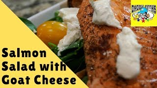 Pan Seared Salmon Salad With Goat Cheese
