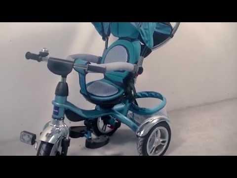 Трехколесный детский велосипед с ручкой Glamvers Jaguar (Ягуар)