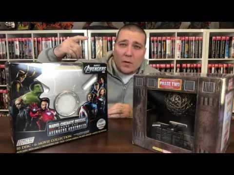 Marvel Cinematic Universe Phase 1 & 2 Blu Ray Box Set Unboxing