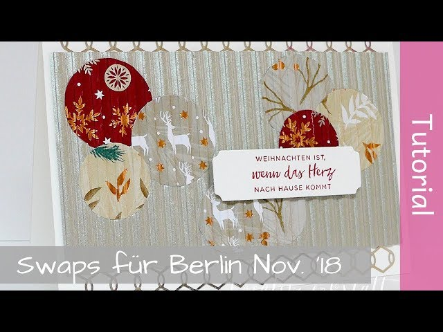 Meine Swaps für OnStage Novemer 2018 in Berlin - Tutorial - Stampin' Up! - YouTube