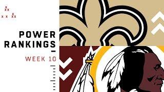 NFL Week 10 Power Rankings!