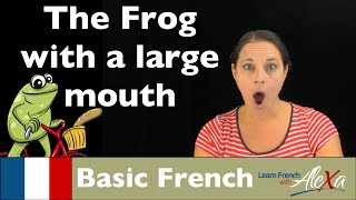 The Story of the Frog with a Large Mouth (Basic French Vocabulary)