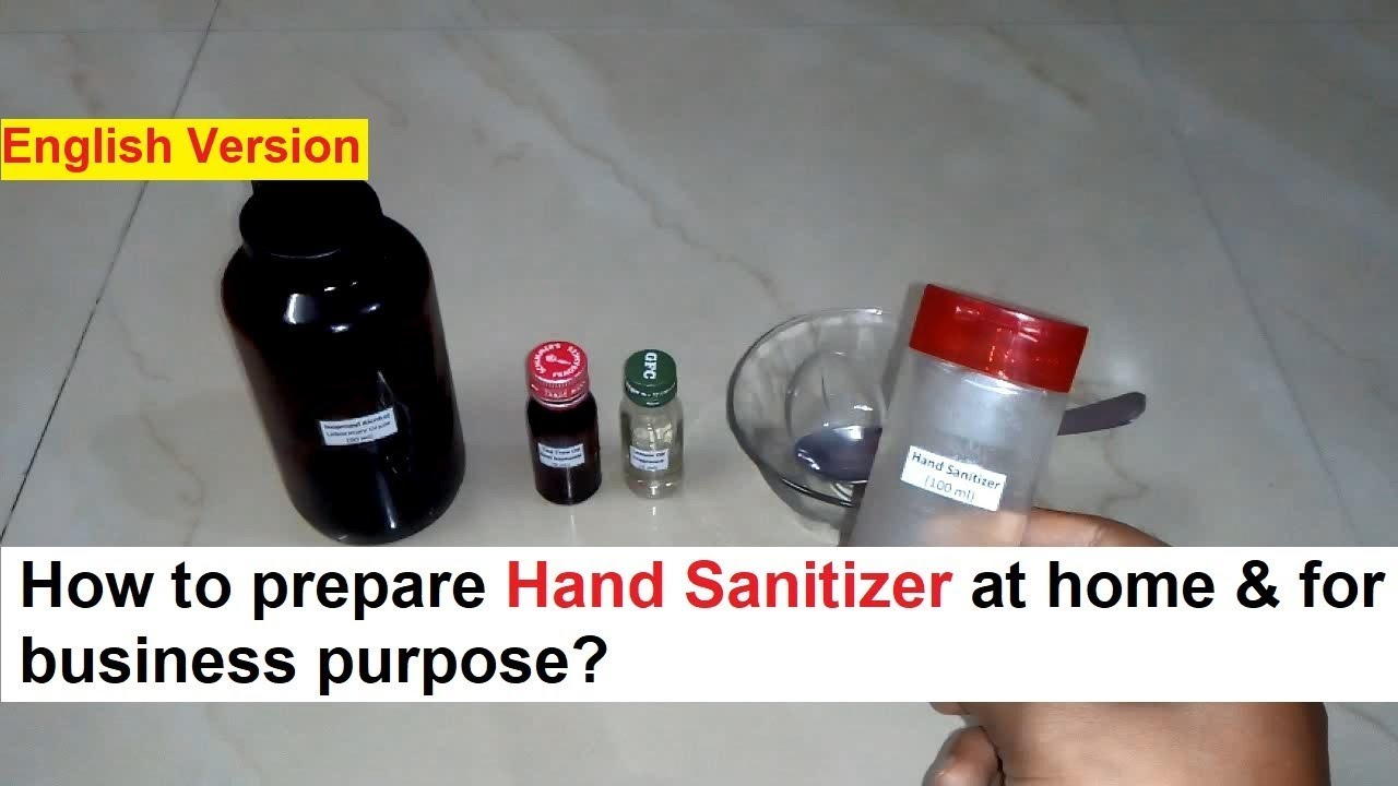 Hand Sanitizer Making Process Real Formula Youtube