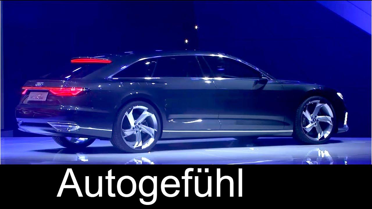 Audi A9 Prologue Avant presentation & Q7 e-tron, R8 V10 ...