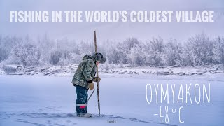 FISHING AT THE COLDEST VILLAGE ON EARTH 48 C OYMYAKON SIBERIA RUSSIA TRAVEL