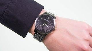 emporio armani gents stainless steel bracelet watch ar1614
