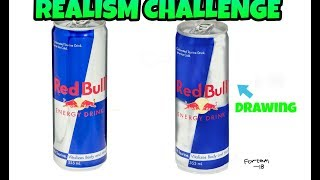 Realistic Art/Red Bull Drawing Timelapse