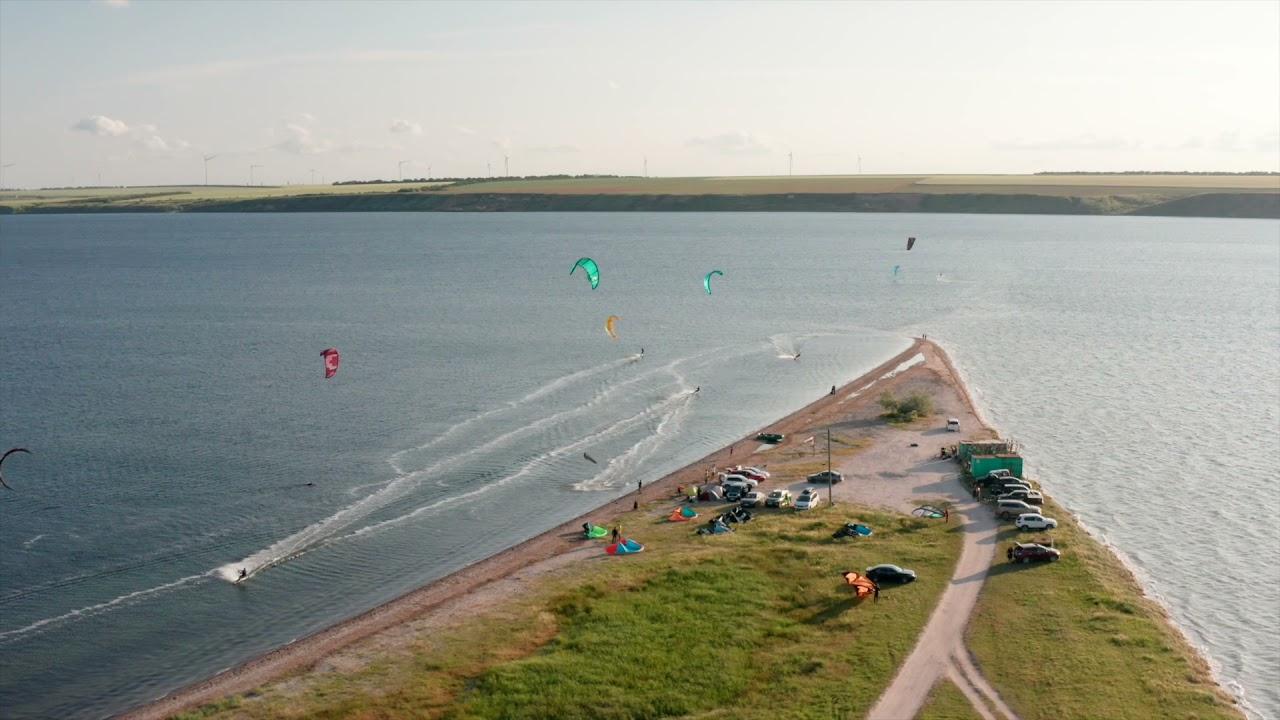 Kitesurfing. Koblevo.
