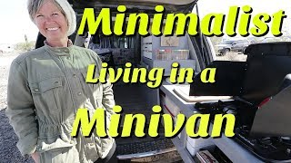 Minimalist Living in a Minivan