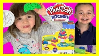 FUN Making PLAY D'OH Cakes! With the Kitchen Creations Frost N Fun Cakes Playset for KIDS