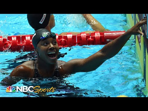 Simone Manuel sprints to 50m freestyle gold by .02 at World Swimming Championships   NBC Sports