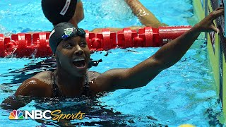 Simone Manuel sprints to 50m freestyle gold by .02 at World Swimming Championships | NBC Sports