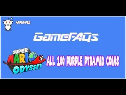 Mario Odyssey All 100 Purple Pyramid Coins The Sand Kingdom