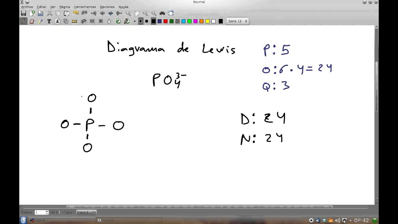diagrama de lewis del ion fosfato po43 youtube